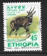 Ethiopia, Scott #1623 Used Menelik's Bushbuck, 2002 - Ethiopia