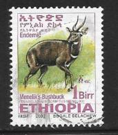 Ethiopia, Scott #1634 Used Menelik's Bushbuck, 2002 - Ethiopia
