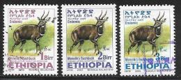 Ethiopia, Scott #1634-6 Used Menelik's Bushbuck, 2002 - Ethiopia