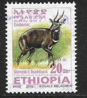 Ethiopia, Scott #1639 Used Menelik's Bushbuck, 2002 - Ethiopia