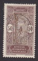 Dahomey, Scott #64, Used, Man Climbing Oil Palm, Issued 1913 - Dahomey (1899-1944)