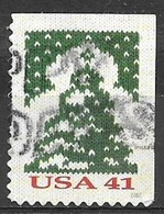 2007 Christmas, Christmas Tree, Imperf Top & Right, Booklet, Used, Michel #4323BE - United States