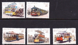 Australia ASC 1217-1221 1989 Historic Trams, Mint Never Hinged - 1980-89 Elizabeth II