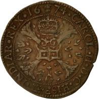 Belgique, Jeton, Flandres, Charles II D'Espagne, Bureau Des Finances, 1674, TTB - Belgique