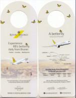 Bookmark Advertising Brunei Airlines 2014 - Bookmarks