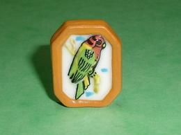 Fèves / Animaux / Oiseaux : Perroquet Cadre , Perruche Papou     TB110E - Animals