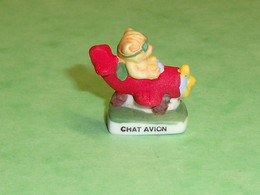 """Fèves / Animaux / Chats : Chat Avion  """" Mat """"     T94 - Animals"""