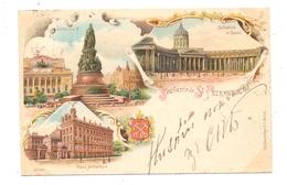 RU 190000 SANKT PETERSBURG, Lithographie 1898, Petersburger Nummernstempel 9, Nach Österreich Befördert - Russland