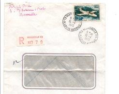 PA N°39 SEUL SUR LETTRE RECOMMANDEE DE MARSEILLE 09 DU 16/4/1970 - Marcofilie (Brieven)