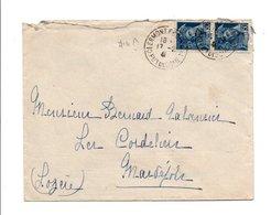 AFFRANCHISSEMENT COMPOSE DE MERCURE SUR LETTRE DE CLERMONT FERRAND DU 17/2/1941 - Marcophilie (Lettres)