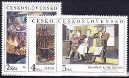** Tchécoslovaquie 1989 Mi 3025-7 (Yv 2826-8), (MNH) - Tchécoslovaquie