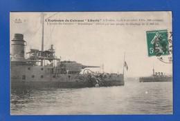 Cuirassé Liberté Explosion 1912 (INFIMES DEFAUTS TTB TENUE SINON ) Ww1680 - Guerra