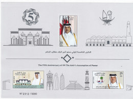 Qatar New Issue 2018, Fifth Ann Of Amir's Assump5tion,issued In S,sheet 3 V.HIGH VALUES-scarce-MNH- Skrill Payment Only - Qatar