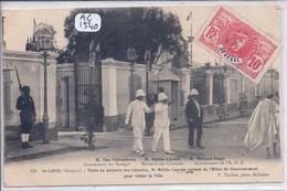 SENEGAL- ST-LOUIS- VISITE DU MINISTRE DES COLONIES- M MILLIES-LACROIX SORTANT DE L HOTEL DU GOUVERNEMENT - Sénégal