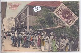 DAHOMEY- COTONOU- LA GARE- FORTIER 3047 - Dahomey