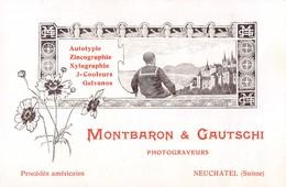 Montbaron & Gautschi - Photograveurs Neuchâtel - Procédés Américains  - Suisse - Visiting Cards