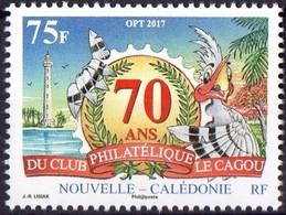 """Nouvelle Calédonie 2017 : """" 70 Ans Du Club Philatélique Cagou """"   - Neuf ** - - Nueva Caledonia"""