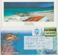 "NOUVELLE CALEDONIE 1998 : A VOIR !!! "" Belle Enveloppe Affranchie & Sa Carte D'accompagnement"" - - New Caledonia"