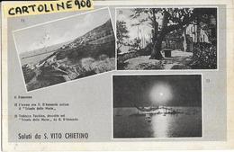 Abruzzo-chieti-san Vito Chietino Vedute Vedutine Eremo Dannunziano Panorama Trabocco Turchino Saluti Da S.vito Chietino - Italia