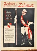 Affiche Originale: Société Zofingue Neuchâtel - Déroulement Des Séances - Patrie - Amitié - Science (40 X 29 Cm) Suisse - Posters