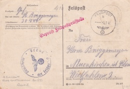 Censored German Feldpost WW2: 4. Kompanie Strassen-Bau-Bataillon 677 FP 30770 P/m 5.7.1940 - Censored By Feldpostprüfste - Militaria
