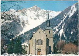 74. Gf. CHAMONIX-MONT-BLANC. L'Eglise Et Le Brévent. 179 - Chamonix-Mont-Blanc