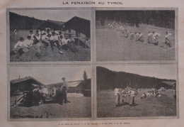 La Fenaison Au Tyrol - Tirol - Page Original 1908 - Unclassified