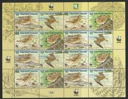 1997 Marshall Islands WWF Bristle-thighed Curlew Minisheet (** / MNH / UMM) - Ongebruikt