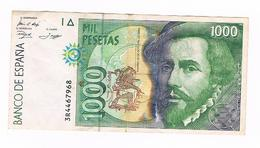 BILLET  1000 PESETAS - 12 Octobre  1992 - [ 4] 1975-… : Juan Carlos I