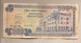 Burundi - Banconota Circolata Da 500 Franchi P-30b.2 - 1986 - Burundi