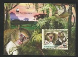 2013 Guinea Bissau WWF Campbell's Monkey Souvenir Sheet (** / MNH / UMM) - Ongebruikt