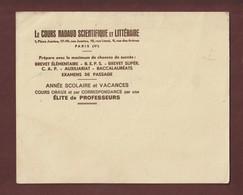 BUVARD - LE COURS NADAUD SCIENTIFIQUE ET LITTERAIRE - Prépare Avec Le Maximum De Chances Les éléves - 2 Scannes - Stationeries (flat Articles)