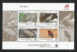 2011 Macau WWF Birds / 50th Anniversary Of WWF Minisheet (** / MNH / UMM) - Ongebruikt