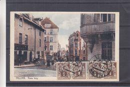 Estonie - Carte Postale De 1927 - Oblit Tallinn - Exp Vers Cordoba - Avec 4 Timbres De 1 - Rare - Estonia