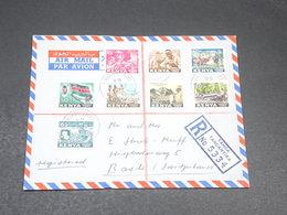 KENYA - Enveloppe En Recommandé De Tanganyika Pour La Suisse En 1964, Affranchissement Varié Plaisant  - L 19698 - Kenya (1963-...)