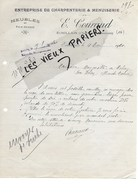 17 - Charente-maritime - ECHILLAIS - Facture COURAUD - Menuiserie, Charpente, Meubles - 1920 - REF 98B - France