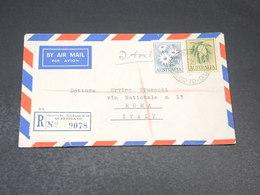 AUSTRALIE - Enveloppe En Recommandé De George Saint Brisbane Pour L 'Italie En 1962 - L 19700 - 1952-65 Elizabeth II : Pre-Decimals