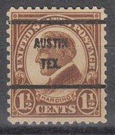 USA Precancel Vorausentwertung Preo, Bureau Texas, Austin 633-61 - Vorausentwertungen