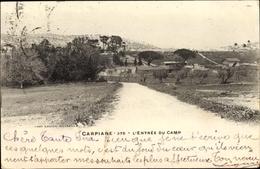 Cp Aubagne Bouches Du Rhône, Carpiane, L'Entrée Du Camp - Autres Communes
