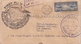 USA 1926  PLI AERIEN DE MEDFORD    1er VOL SEATTLE-LOS ANGELES - Luftpost