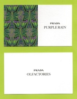 Cartes Parfumées Carte PRADA PURPLE RAIN  De PRADA   RECTO VERSO - Cartes Parfumées