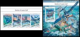 Sierra Leone 2018 History, WWII, World War II, Battle Of Leyte Gulf, Military Aviation, Ships - Sierra Leone (1961-...)