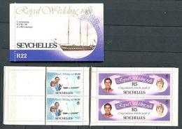 234 SEYCHELLES 1981 - Yvert C 491/92 - Carnet Complet - Mariage Royal - Neuf **(MNH) Sans Charniere - Seychelles (1976-...)