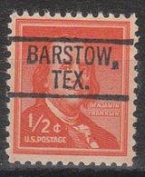 USA Precancel Vorausentwertung Preo, Locals Texas, Barstow 802 - Vorausentwertungen