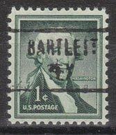 USA Precancel Vorausentwertung Preo, Locals Texas, Bartletts 466, Stamp Thin - Vorausentwertungen