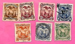 3170  --  EQUATEUR  --  1881  Lot  De  Timbres  Oblitérés - Equateur
