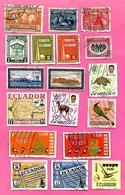 3175  --  EQUATEUR  --   Lot  De  Timbres  Oblitérés - Equateur