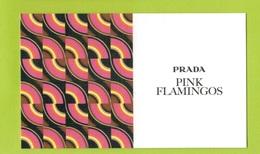 Cartes Parfumées Carte  PINK FLAMINGOS RECTO VERSO De PRADA - Cartes Parfumées
