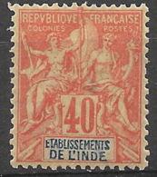 Inde 1892 -  N° YT 10 Neuf * - India (1892-1954)