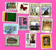 3176  --  EQUATEUR  --   Lots  De  Timbres  Oblitérés - Equateur